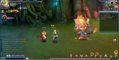 Dragon Pals combat - boss fight