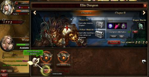 The Elite Dungeon in Nightfalls.