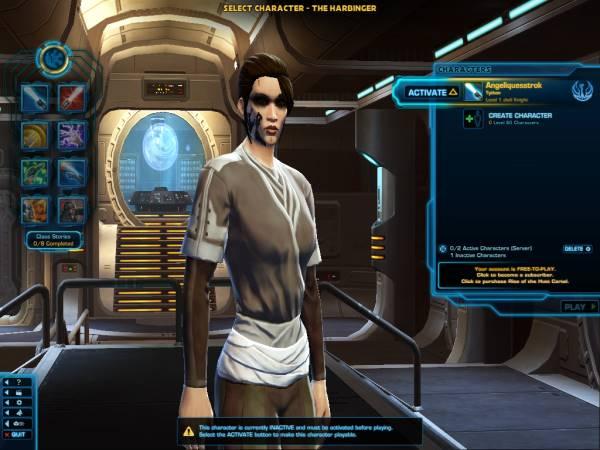 SWTOR character creation screenshot